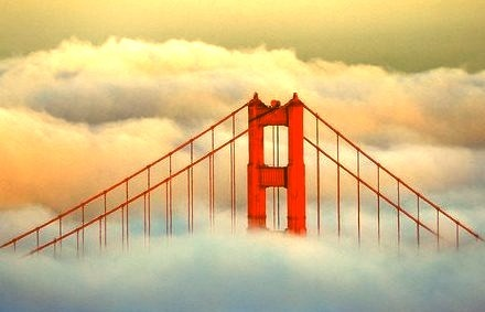 Fog over the Golden Gate, San Francisco