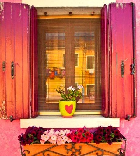 Windowsill, Venice, Italy