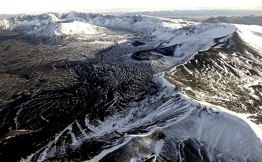 Mount Aniakchak is a 3,700 year old volcanic caldera, about 10 kilometers in diameter, located in the Aleutian Range of Alaska, United States.