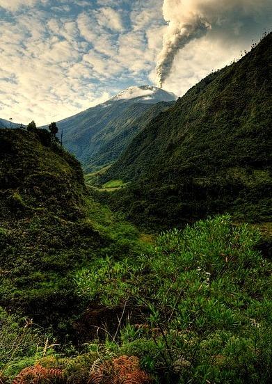by Len Langevin on Flickr.Erupting Tungurahua Volcano in Ecuador.