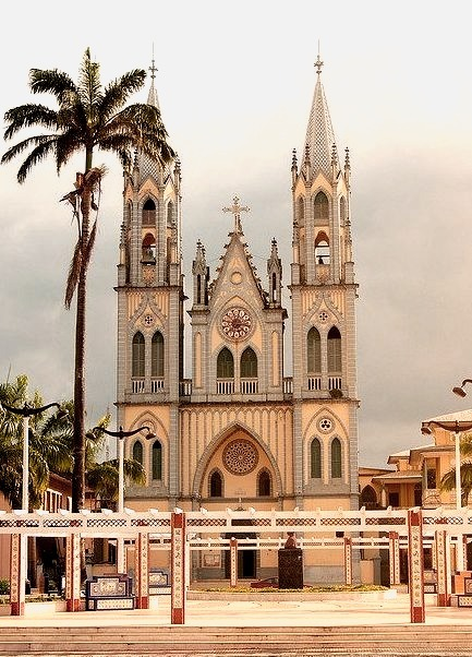 by John & Mel Kots on Flickr.Beautiful old colonial cathedral in Malabo, Equatorial Guinea.