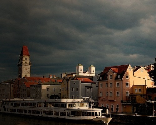 by flanno2610 on Flickr.Storm clouds gather above Bratislava, the capital of Slovakia.