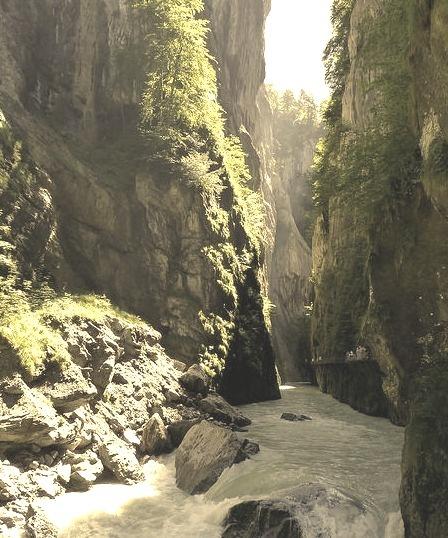 Aar river gorge near Meiringen, Switzerland