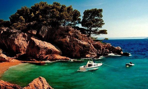 Brela beach, Dalmatian Coast, Croatia