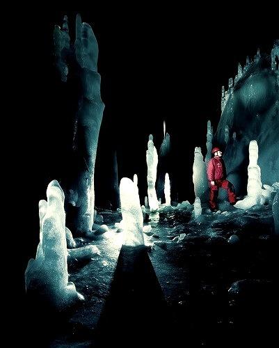 Scarisoara Ice Cave in Apuseni Mountains, Romania