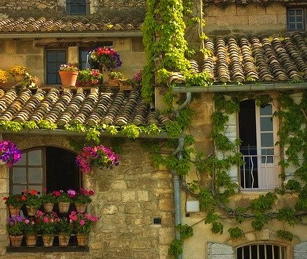 Tile Roof, Provence, France