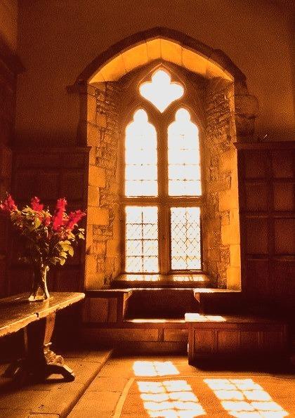 Arched Window, Haddon Hall, Derbyshire, England