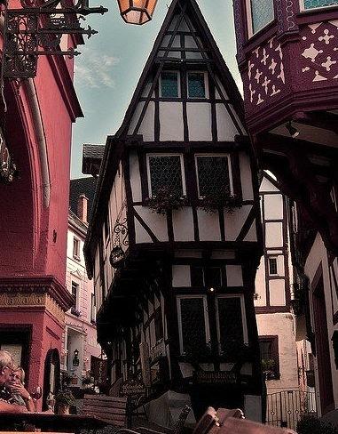 Lovely streets of Bernkastel-Kues in Rhineland-Palatinate, Germany