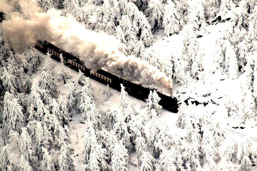 Snow Train, Brocken Mountain, Germany