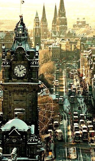 Winter's Day, Edinburgh, Scotland