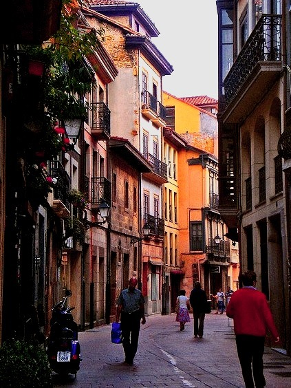 Calle Magdalena in Oviedo, Asturias, Spain
