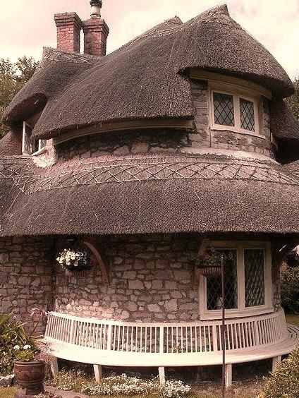 The Circular Cottage at Blaise Hamlet, Bristol, England