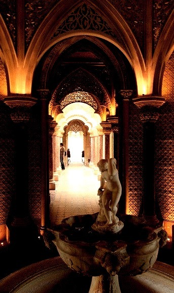 Gothic Revival interiors at Montserrate Palace in Sintra, Portugal