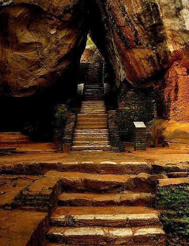 Stairway to Sigiriya Rock / Sri Lanka