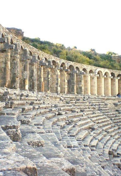 The best-preserved theatre of antiquity, Aspendos Theatre / Turkey